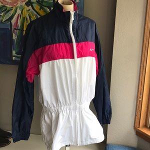 Nike Tunic Windbreaker. Navy, pink & white